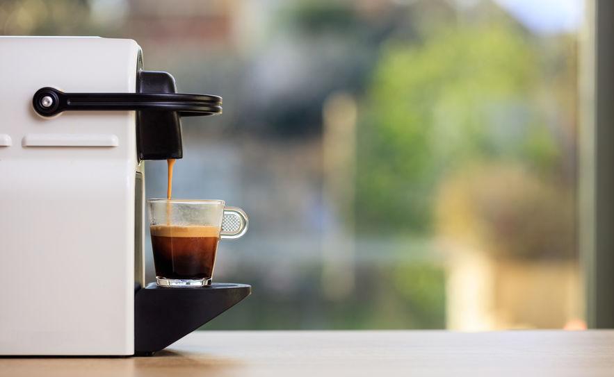 Machine à café compatible nespresso blanche
