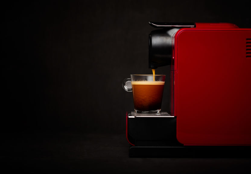 Machine à café compatible nespresso rouge