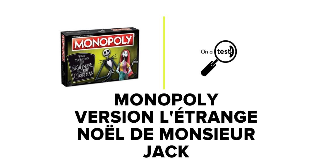 Test et Avis Monopoly version L'Étrange Noël de monsieur Jack