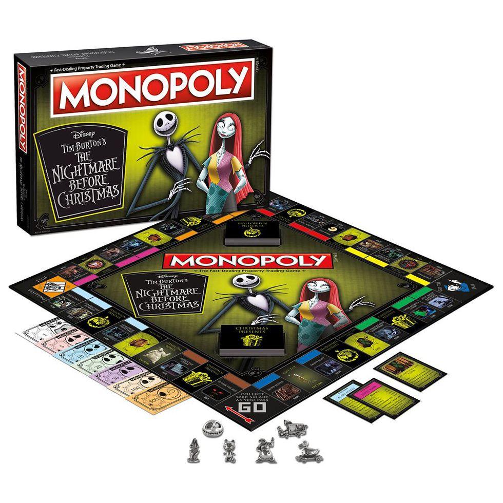 Plateau de jeu Monopoly version L'Étrange Noël de monsieur Jack