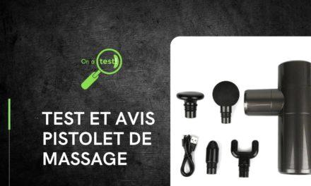 Test et avis pistolet de massage nouvelle GÉNÉRATION